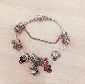Pandora Mickey Mouse red sterling silver bracelet